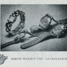 Vintage 1948 Marvin Watch Co La Chaux-de-Fonds Switzerland Swiss Advert Publicite Suisse CH