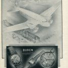 Vintage 1946 Buren Watch Company S.A. Switzerland Swiss Advert Publicite Suisse Schweiz