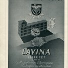Vintage 1946 Lavina Watch Co Villeret Switzerland Swiss Advert Publicite Suisse CH