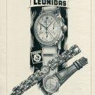 Vintage 1946 Leonidas Watch Co St-Imier Switzerland Swiss Advert Publicite Suisse CH