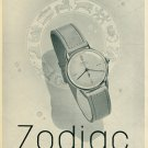 Vintage 1946 Zodiac Watch Company Switzerland Swiss Advert Publicite Suisse CH