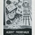 Vintage 1947 Albert Froidevaux Switzerland Swiss Advert Publicite Suisse CH Horlogerie Horology