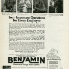 Vintage 1920 Benjamin Electric Mfg Co Chicago IL Illinois Benjamin-Starrett 1920 Ad Advert