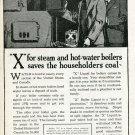"Vintage 1920 ""X"" Boiler Liquid X Laboratories New York Ad Advert Furnace Repair Plumbling Heating"