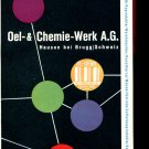 Vintage 1947 Oel & Chemie Werk AG Swiss Print Ad Suisse Publicite Schweiz Switzerland CH 1940s