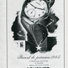 Vintage 1946 Longines Watch Co Record de Precision Swiss Advert Publicite Suisse Montres CH