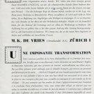 Vintage 1946 Roamer Angelus Watch Co Switzerland Swiss Advert Publicite Suisse CH M K De Vries