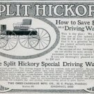 Vintage 1905 Ohio Carriage Mfg Co Split Hickory Driving Wagon Early 1900s Print Ad Publicite Advert
