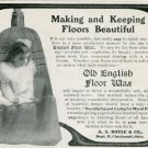 Vintage 1905 A S Boyle & Co Cincinnati Old English Floor Wax Early 1900s Print Ad Publicite Advert