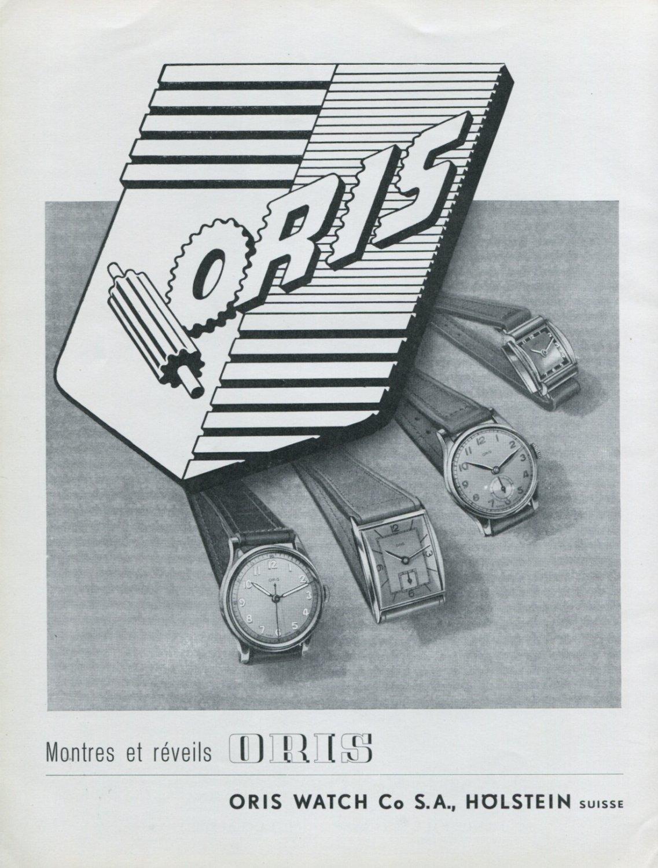 1947 Oris Watch Company S.A. Holstein Switzerland Swiss Advert Publicite Suisse Montres Oris CH