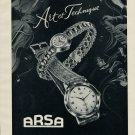 1953 Arsa Watch Co d'Horlogerie A Reymond Switzerland Swiss Advert Publicite Suisse Montres CH