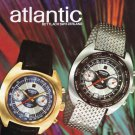 1971 Atlantic Watch Company Switzerland Swiss Advert Publicite Suisse Montres CH