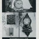 1948 Le Castel Clock Co Wermeille & Co Switzerland Swiss Advert Publicite Suisse CH