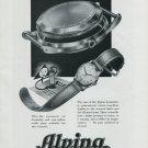 Vintage 1948 Alpina Automatic Watch Advert Swiss Print Ad Publicite Suisse Montres Aplina CH