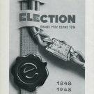 Vintage 1948 Election Watch Co Switzerland 1848-1948 100 Years Swiss Advert Publicite Suisse CH