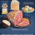 1964 Baker's Angel Flake Coconut General Foods Bakers Coconut 1960s Ad Advert