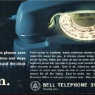 1964 Bell Telephone System Extention Phones Save You Time and Steps Magazine Ad