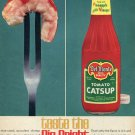 1964 Del Monte Tomato Catsup with Pineapple Distilled Vinegar Ketchup Ad Advert