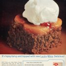 1964 Lucky Whip Dessert Topping Mix Betty Crocker Ginger Peachy Cake Ad Advert