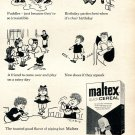 1964 Maltex Hot Cereal Toasted Good Flavor Kids Like Heublein Burlington VT Ad