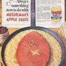 1964 Musselman's Apple Sauce Saucy Ham Slice 1960s Ad Advert Musselmans PET Milk
