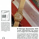1958 Omega Seamaster XVI Olympics Omega 30mm Geneve Watch Advert OmegaCH 1950s Print Ad