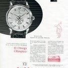 Vintage 1956 Omega Olimpico Watch Advert Olympics 1950s Omega Watch Company Switzerland Spanish Ad