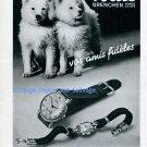 Vintage 1945 Fortis Watch Company Switzerland 1940s Swiss Print Ad Advert Publicite Suisse Schweiz