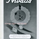 Vintage 1945 Nivada Watch Company Grenchen Switzerland 1940s Swiss Ad Advert Suisse