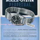 Vintage 1945 Rolex Oyster Perpetual Watch Advert 1940s Swiss Ad Advert Publicite Suisse