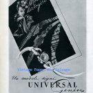 Vintage 1945 Universal Geneve Watch Company Switzerland 1940s Swiss Ad Advert Publicite Suisse
