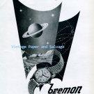 Vintage 1945 Bremon Automatic Watch Advert 1940s Swiss Ad Suisse Switzerland Schweiz