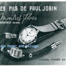 Vintage 1945 Flora Watch Company Les Fils de Paul Jobin Switzerland Swiss Advert Suisse