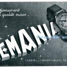 Vintage 1945 Lemania Watch Co Lugrin SA Original 1940s Swiss Print Ad Publicite Suisse Montres