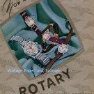 Vintage 1945 Rotary Fils de Moise Dreyfuss Watch Company Switzerland Swiss Ad Advert Suisse