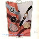 Vintage 1945 Buttes Watch Co SA BWC BUT Butex Switzerland Original 1940s Swiss Ad Advert Suisse