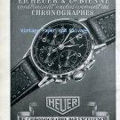 Vintage 1945 Heuer Le Chronographe Par Excellence Heuer Watch Company Swiss Ad Advert Suisse