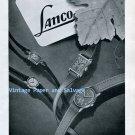 Vintage 1945 Lanco Langendorf Watch Company Switzerland 1940s Swiss Ad Advert Suisse Schweiz