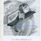 Vintage 1945 Mondia Watch Company Paul Vermot & Cie Switzerland 1940s Swiss Ad Advert Suisse