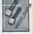 Vintage 1945 Solvil Watch Company Paul Ditisheim SA Switzerland 1940s Swiss Print Ad Suisse
