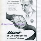Vintage 1945 Tissot Automatic Watch Advert Switzerland 1940s Swiss Print Ad Publicite Suisse