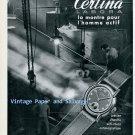Vintage 1945 Certina Labora Watch Advert Kurth Freres SA Switzerland 1940s Swiss Ad Suisse