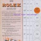 1945 Rolex Watch Co Geneva Neuchatel Kew Teddington Observatory 1940s Swiss Print Ad