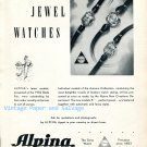 Vintage 1952 Alpina Watch Company Alpina Union Horlogere SA Switzerland Swiss Ad Advert Suisse