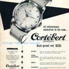 Vintage 1952 Cortebert Spirofix Watch Advert 1950s Swiss Print Ad Suisse Switzerland
