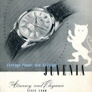 Vintage 1952 Juvenia Watch Company Accuracy and Elegance Original 1950s Swiss Ad Advert Suisse
