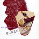 Buren Watch Company Switzerland Vintage 1945 Swiss Print Ad Advert Suisse 1940s