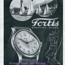Fortis Watch Company Switzerland Vintage 1945 Swiss Print Ad Suisse Advert Sailing