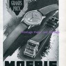 Moeris Watch Company Switzerland Vintage 1945 Swiss Ad Advert Suisse 1940s