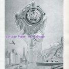 Ogival Automatic Watch Advert Switzerland Vintage 1945 Swiss Print Ad Suisse Schweiz 1940s